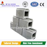 Cement brick making machine with low investment