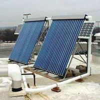 Solar heating system collector