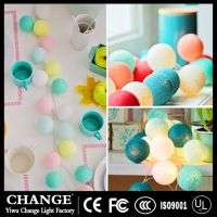 LED Cotton Ball Fairy String Lights Battery Holiday Lamp Wedding Party Christmas Festival Decoration thumbnail image