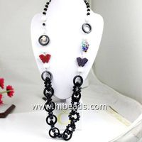 """34"""" crystal and agate gemstone necklace wholesale"""