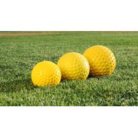 "9 inch Yellow Pitching Machine Baseball Ball, 9"" Yellow Dimple Pitching Machine Baseball"