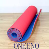 Fitness Gym Mat Red and Blue custom and wholesale 10mm
