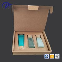Customized printing small cosmetics sample set packaging kraft paper gift box with fixed tray