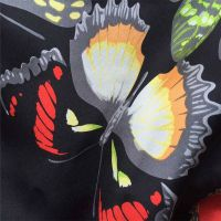 factory price, customized new designs hanbok cloths printed silk fabric, real silk crepe satin plain
