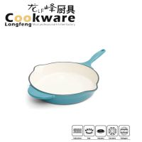 Color Enamel Cast Iron Skillets Pan