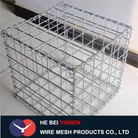 Welded gabion mesh stone cages
