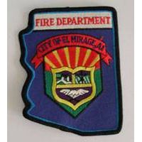 Fire embroidered patches