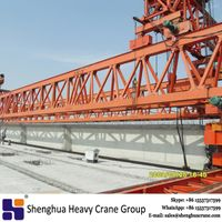 China HSHCL 150t 200t double truss type concrete bridge beam erection crane beam launcher