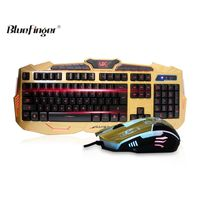 USB Wired Three Color Adjustable Luminous Gaming Keyboard and Mouse Combo