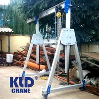 500kg 1000 kg 1 2 ton aluminium small portable mini mobile adjustable height aluminum gantry crane