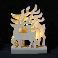 wooden christmas Bridge Light led wooden elk xmas gift home decoration christmas light