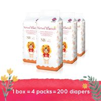 Natural Blossom - Baby Disposable Diapers Hypoallergenic for Sensitive Skin, Size 1 / NEW BORN