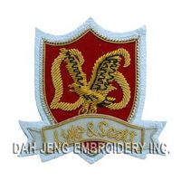 Custom Bullion Wire Embroidered Badge