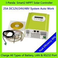 MPPT 25A mppt 25 Solar charge controller 12v 24v 48v auto work with LED LCD DC loads Ctrl Battery te