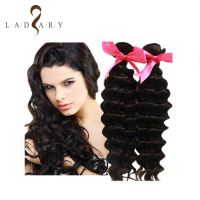 7A Wholesale Deep Wave Deep Curl 100 Percent Indian Remy Human Hair