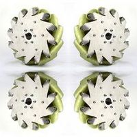A set of 10inch(254mm) mecanum wheel with PU roller(Load cacipity 500KG) 14197 thumbnail image