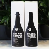 Rice wine shampoo/treatment products made in South Korea
