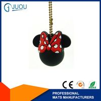 3d custom shaped soft pvc keychain with MINNIE shape
