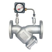 Aluminum Alloy Flange Ends Y Strainer with Differential Pressure Gauge for Gas/Liquefied Gas