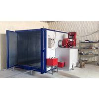powder curing oven riello diesel burner