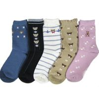Women cotton socks jaquard socks