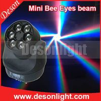 6pcs 15W RGBW 4IN1 mini Bee Eye led moving head beam light LM-0615 thumbnail image