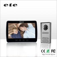 10inch support 2 monitor + 1 camera wired video door phone intercom system with talking and monitor,
