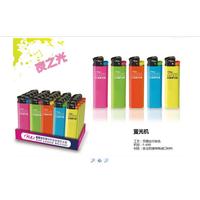 fluorescent colour design flint lighter with custom logo