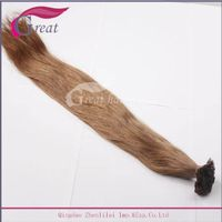 Greathairgroup Never shedding Italy keratin Flat tip hair extension