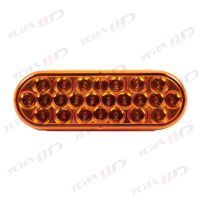 6 Inch Oval Red 10 LED Brake Stop Turn Trailer Tail Truck Lights thumbnail image