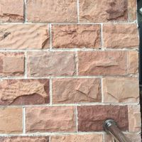Natural sandstone mushroom stone 30x15cm brown color for exterior wall cladding decorations
