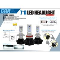 Wholesale 7g series High power car LED head light with 8000lm 12v 24v car led kits