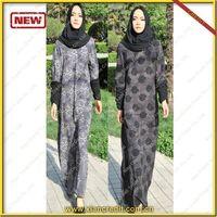 2014 Newest muslim women abaya made of Two face cotton tencel prints thumbnail image