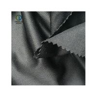 Black 100%RPET knitted fabric made from recycled pet bottles for clothes