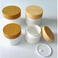 Wood grain cream jar