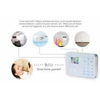 wireless gsm home alarm system kit TFT screen gsm intelligent alarm system m