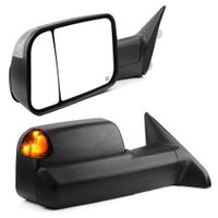 Pair for 2009-2015 Dodge Ram Pickup Power Heated Puddle Turn Signal Tow Mirrors thumbnail image