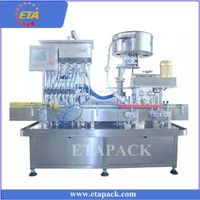 Automatic liquid bottle filling capping machine