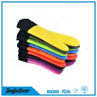 Silicone Oven Mitt - 1 Pair - Extra Long Oven Mitts with Quilted Liner for Extra Protection thumbnail image