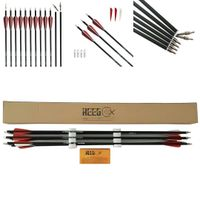 30 Inch Archery Carbon Arrow REEGOX Beginner Target and Practice Hunting Arrow with Field Points Rep thumbnail image