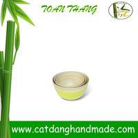 Hot Sale 3Pcs Unique Bamboo Bowls, Vietnam bamboo fiber bowl