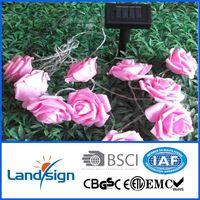 Decorative led flowers solar light string thumbnail image