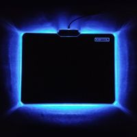 Xibter Lighting Mouse Pad LED Glowing Cloth Surface Anti-slip Silicone Bottom Gaming Mousepad