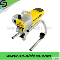 Powerful electric paint sprayer with durable piston pump