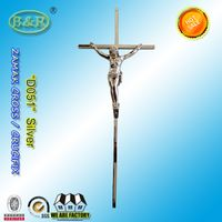 D051 zamak crucifix coffin decoration metal zinc croix cercueils