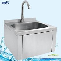 Stainless Steel Wall Mounted Sink,Knee Operated Small Hand Washing Sink