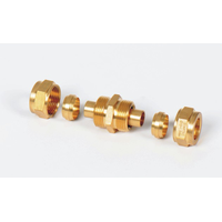 Brass bite type fitting compression fitting with core thumbnail image