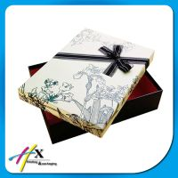 Red jewelry gift box / wedding gift box with bow