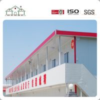 Flat Pack Two Story Light Steel Structure Labor Camp
