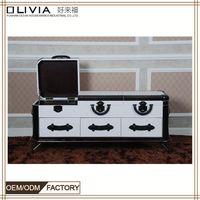 Homedecor furniture furnishing TV cabinet white color leather X659